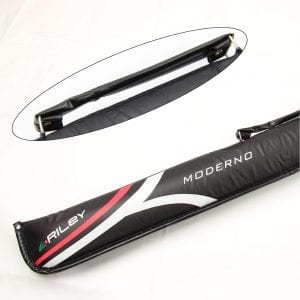 Riley MODERNO Black Padded Soft 2pc Snooker Pool Cue Case